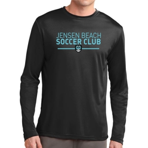 Jensen Beach Soccer Club Long Sleeve Performance Shirt - Black JB-ST350LSBlk