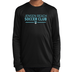 Jensen Beach Soccer Club Youth Performance Long Sleeve Shirt - Black WSUB-YST350LSBlk