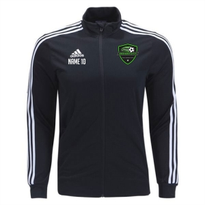Jensen Beach Elite Soccer adidas Tiro 19 Training Jacket - Black/White JBE-DJ2594