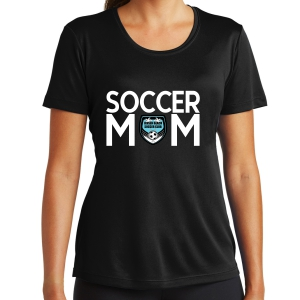 Jensen Beach Women's Soccer Mom Performance Shirt - Black LST350-JB