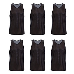 Kwik Goal Training Vest - Black - Pack Of 6 19A1-B6