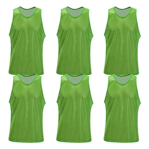 Kwik Goal Training Vest - Green - Pack Of 6 19A1-G6
