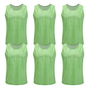 Kwik Goal Training Vest - Hi Vis Green - Pack Of 6 19A1-HVG6