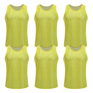 Kwik Goal Training Vest - Hi Vis Yellow - Pack Of 6 19A1-HVY6