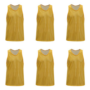Kwik Goal Training Vest - Yellow - Pack Of 6 19A1-Y6