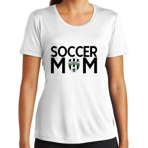Lee County Strikers Women's Soccer Mom Performance Shirt - White LST350-LCSSM