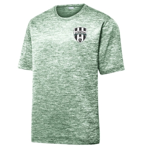Lee County Strikers Heather Performance Shirt - Forest Green/Electric ST390-LCS
