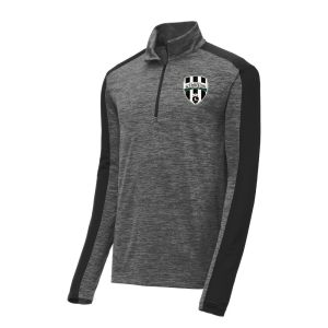 Lee County Strikers 1/4 Zip Pullover Top - Dark Grey ST397-LCS