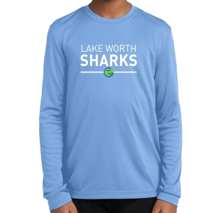 Lake Worth Sharks FC Youth Long Sleeve Performance Shirt - Light Blue LWS-YST350LS-LB