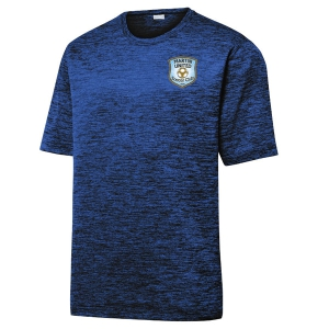 Martin United Soccer Club Heather Performance Shirt - Dark Royal/Black/Electric ST390-MUSC