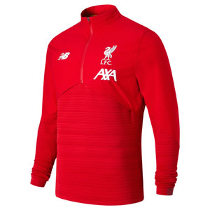 New Balance Liverpool FC Vector Speed Red Quarter-Zip Pullover MT931007