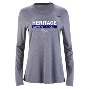 American Heritage Nike Women's Legend Long Sleeve Training Jersey - Carbon Heather/Black AH-453182-091