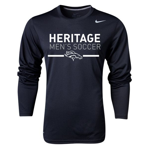 29015c03aed American Heritage Nike Team Legend Long Sleeve Top - Black/Cool Grey
