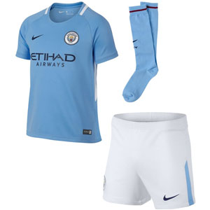 Nike Manchester City Kids Home Kit 2017-2018 847362-489