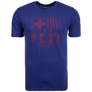 Nike FC Barcelona Crest T-Shirt - Deep Royal Blue 857243-410