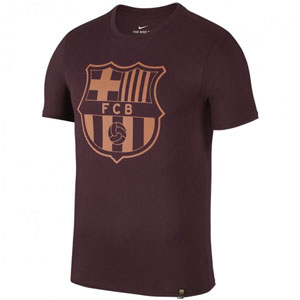 Nike FC Barcelona Crest T-Shirt - Night Maroon 857243-681