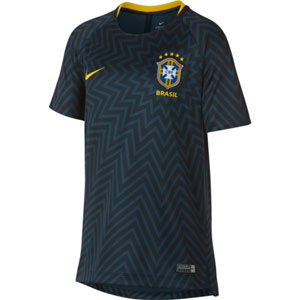 Nike Brasil Youth Squad Top 2018 - Armory Navy/Midwest Gold 893712-454