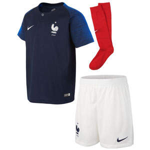 Nike France Child Home Kit 2018 894043-451