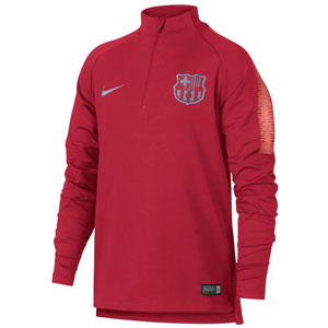 5f1b6d4b7 Nike Barcelona Youth Squad Drill Top - Tropical Pink Light Atomic Pink  894395-691