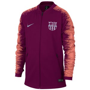ed216f236 Nike Barcelona Youth Anthem Jacket - Deep Maroon Light Atomic Pink  894412-669