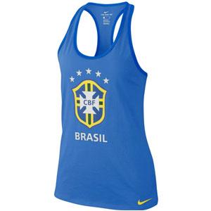 92a2911c6adac Nike Brasil Women s Crest Tank Top 2018 - Signal Blue 908333-403