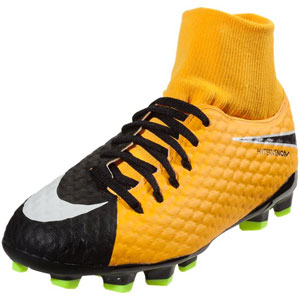 Nike HyperVenom Phelon III DF JR FG - Laser Orange/Black 917772-801