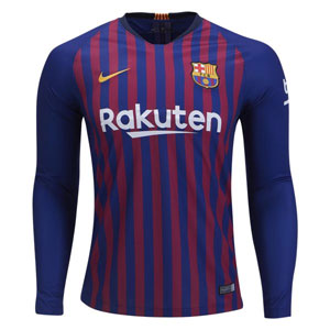 8c3ceefed Nike Barcelona Home Long Sleeve Jersey 2018-2019 919061-456