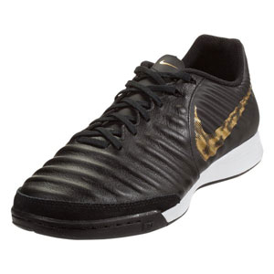 Nike Tiempo LegendX VII Academy IC - Black/Metallic Vivid Gold Indoor AH7244-077