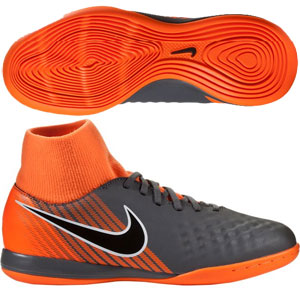 Nike Junior ObraX II Academy DF IC - Dark Grey/Total Orange IC AH7315-080