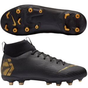 e4f910d67 Nike Junior Mercurial SuperFly VI Academy MG - Black Metallic Vivid Gold  AH7337-077