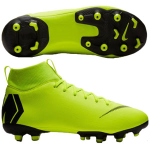 Nike Junior Mercurial SuperFly VI Academy MG - Volt/Black AH7337-701