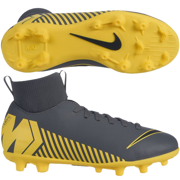 on sale 80949 8537a Nike Jr Mercurial Superfly VI Club MG - Dark Grey/Yellow
