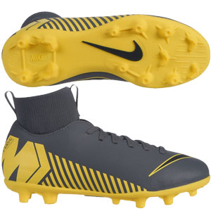 Nike Jr Mercurial Superfly VI Club MG - Dark Grey/Yellow AH7339-070