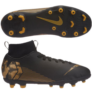 Nike Jr Mercurial Superfly VI Club MG - Black/Metallic Vivid Gold AH7339-077