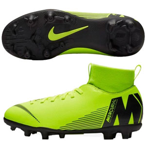 Nike Jr Mercurial Superfly VI Club MG - Volt/Black AH7339-701