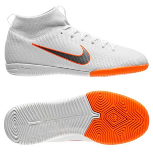 Nike Junior SuperflyX Academy VI DF IC - White/Total Orange Indoor AH7343-107