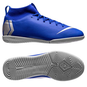 Nike Junior SuperflyX Academy VI DF IC - Racer Blue/Metallic Silver Indoor AH7343-400