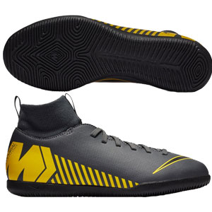 Nike Junior SuperflyX Club VI DF IC -  Dark Grey/Yellow Indoor AH7346-070