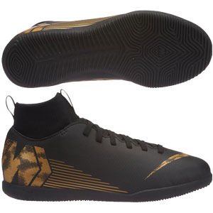 Nike Junior SuperflyX Club VI DF IC -  Black/Metallic Vivid Gold Indoor AH7346-077