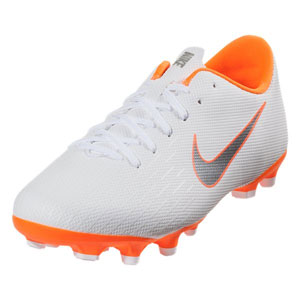 Nike Junior Mercurial Vapor 12 Academy MG - White/Total Orange AH7347-107