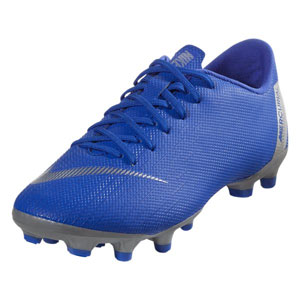 Nike Junior Mercurial Vapor 12 Academy MG - Racer Blue/Metallic Silver AH7347-400