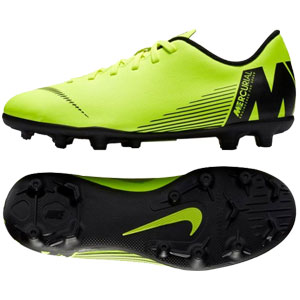 Nike Junior Mercurial Vapor 12 Club MG - Volt/Black AH7350-701