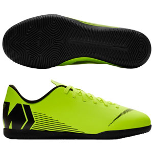Nike Junior Vapor X 12 Club IC - Volt/Black Indoor AH7354-701