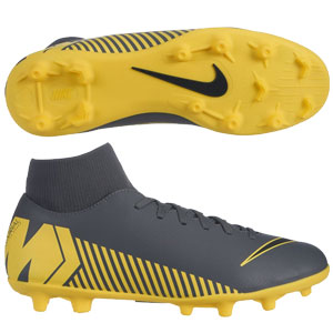 Nike Mercurial Supferfly Club VI MG - Dark Grey/Yellow AH7363-070