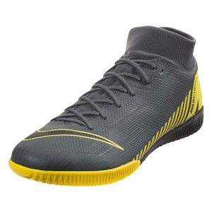 Nike Mercurial SuperflyX VI Academy IC - Dark Grey/Opti Yellow Indoor AH7369-070