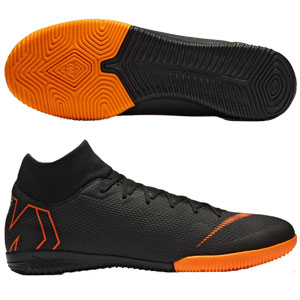 Nike Mercurial SuperflyX VI Academy IC - Black/Total Orange Indoor AH7369-081