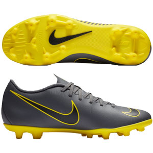 Nike Mercurial Vapor 12 Club MG - Dark Grey/Yellow AH7378-070