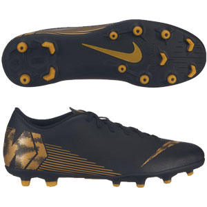 Nike Mercurial Vapor 12 Club FG - Black/Metallic Vivid Gold AH7378-077