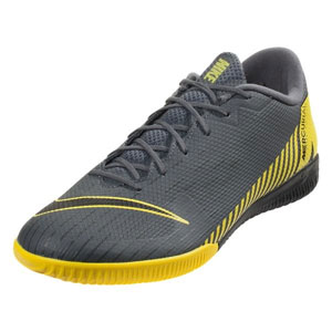 Nike Mercurial VaporX 12 Academy IC - Dark Grey/Yellow Indoor AH7383-070