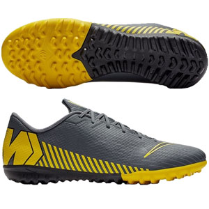 Nike Mercurial Vapor X 12 Academy TF - Dark Grey/Opti Yellow Turf AH7384-070